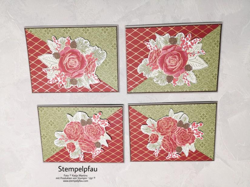 Karte ohne Stempeln, Weihnachtskarte, Designerpapier Wunderbare Weihnachtszeit, Stampin' Up!