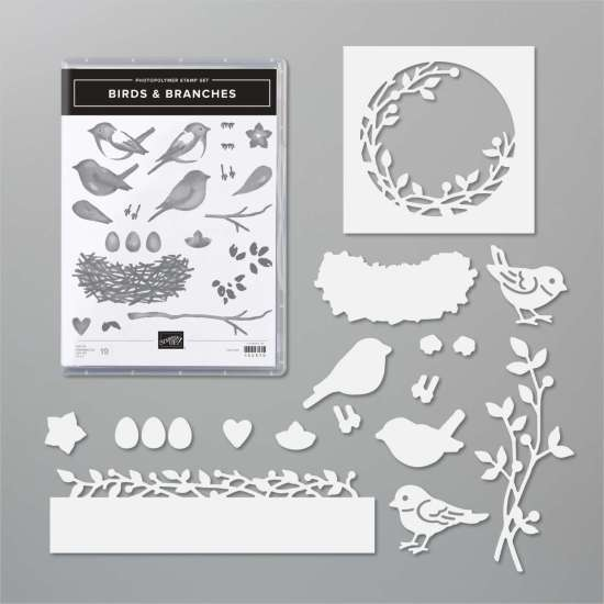 März 2021, Birds and Branches, Stempelpfau, Stampin' Up!