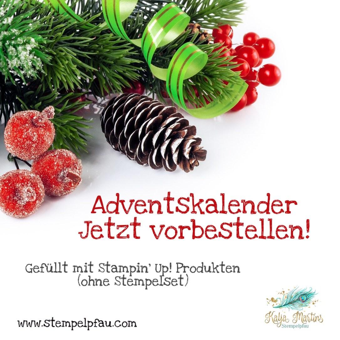 Adventskalender 2021 mit Stampin' Up! Produkten