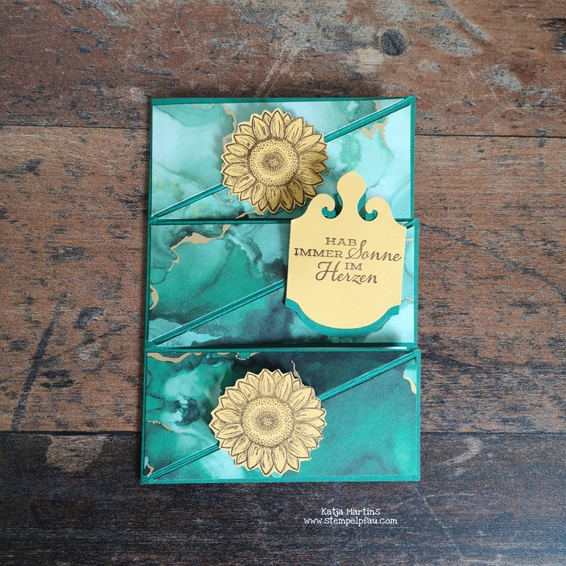Tripple Twisted Easel Card mit Stampin' Up! Produkten