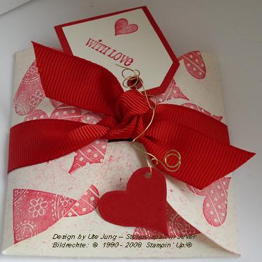 Kleine Valentinsverpackung