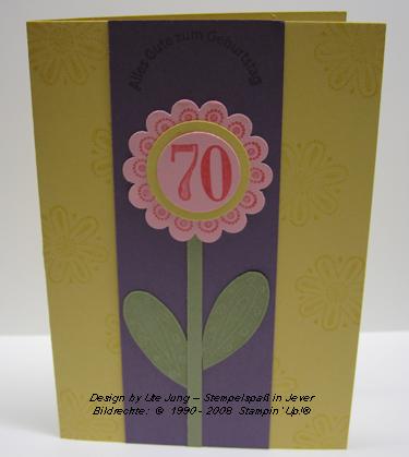 Geburtstagskarte zum 70.!
