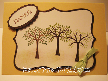 Dankeskarte 3 Bäume