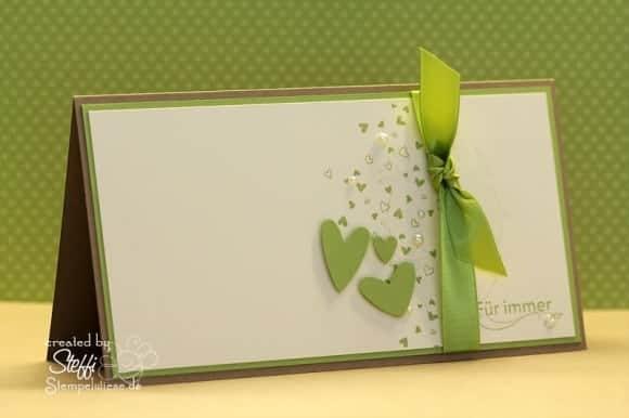 Hochzeitskarte passend zum Hochzeitsalbum  Stempelwiese