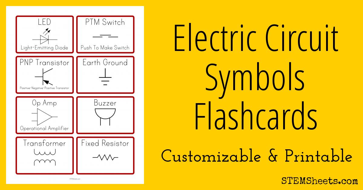 Basic Electrical Wiring Diagram Maker Electric Circuit Symbols Flashcards Stem Sheets