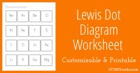 Lewis Dot Diagram Worksheet   STEM Sheets