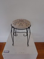 'Paterson Street' (pre-loved stool, drawn design, embroidery) 2013