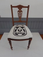 Chair (pre-loved chair, stenciled design, embroidery) 2013