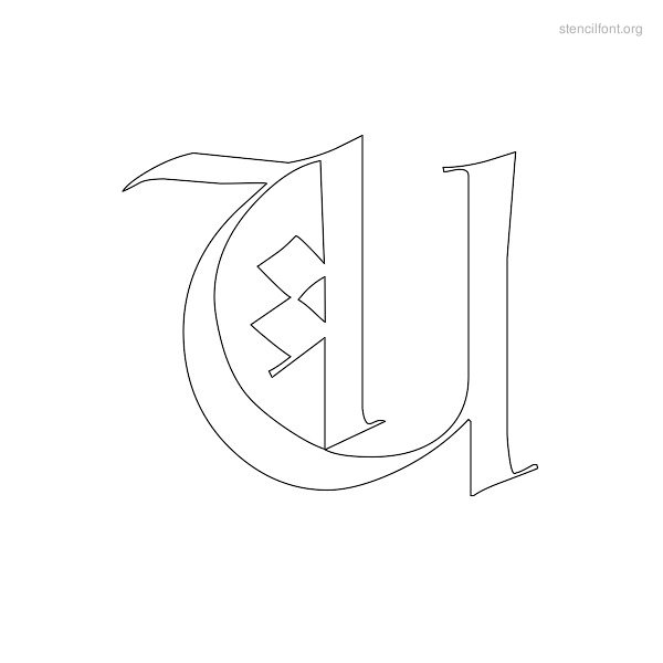 Old English Stencil Font Outline Stencil Font Org