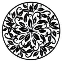 Curly Leaf Circle Permalink Page | Stencilletta ...