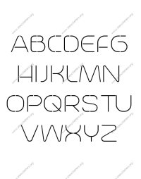 Elegant Letter Stencils Numbers and Custom Made to Order ...