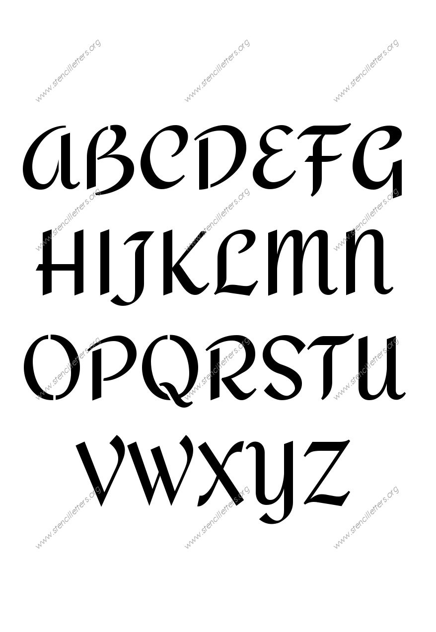 Calligraphy Penmanship Letter Stencils Numbers and Custom