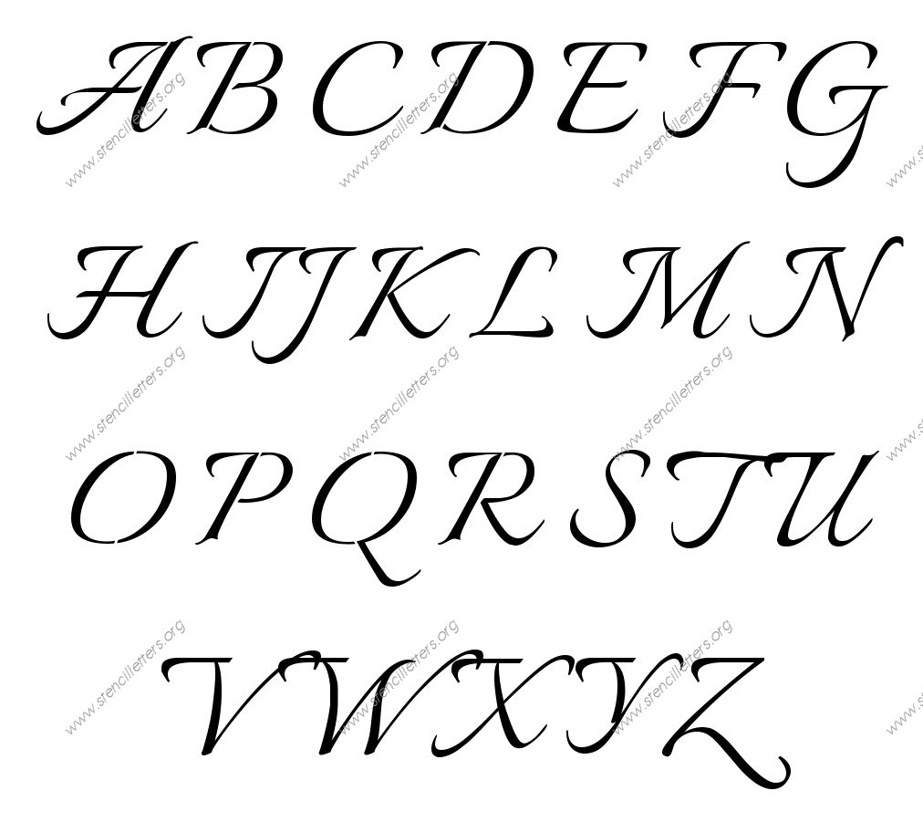 Connected Calligraphy Uppercase & Lowercase Letter
