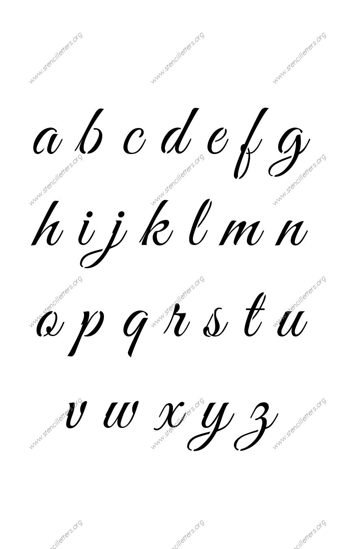 Elegant Calligraphy Uppercase & Lowercase Letter Stencils