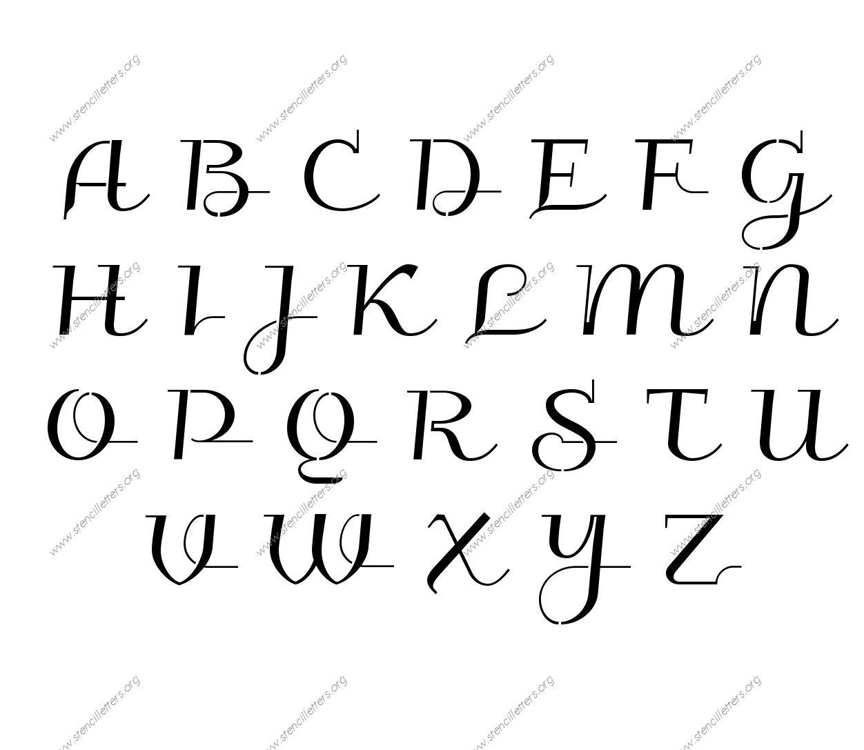 Wedding Calligraphy Uppercase Amp Lowercase Letter Stencils