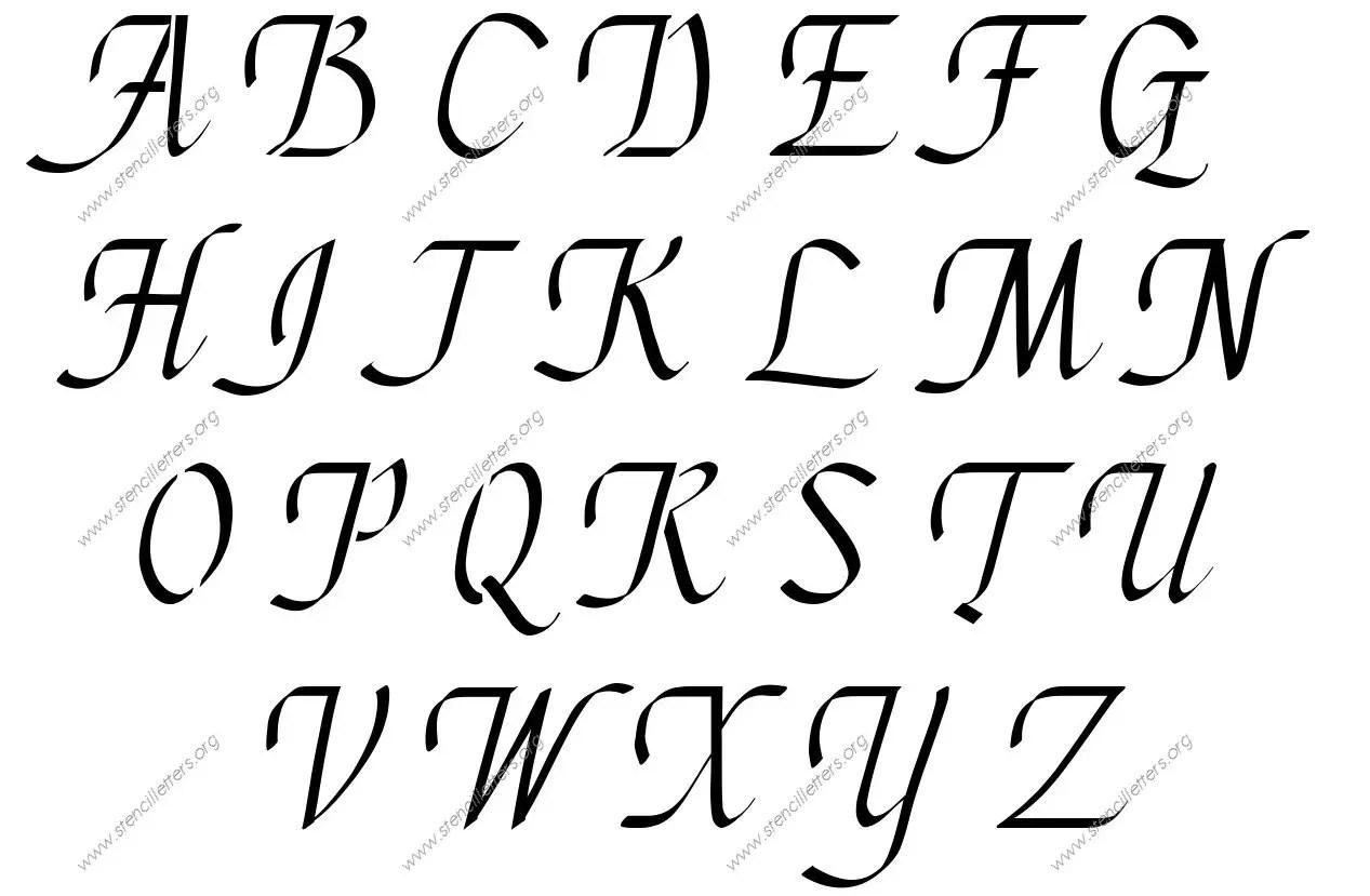 Stylish Cursive Uppercase Amp Lowercase Letter Stencils A Z