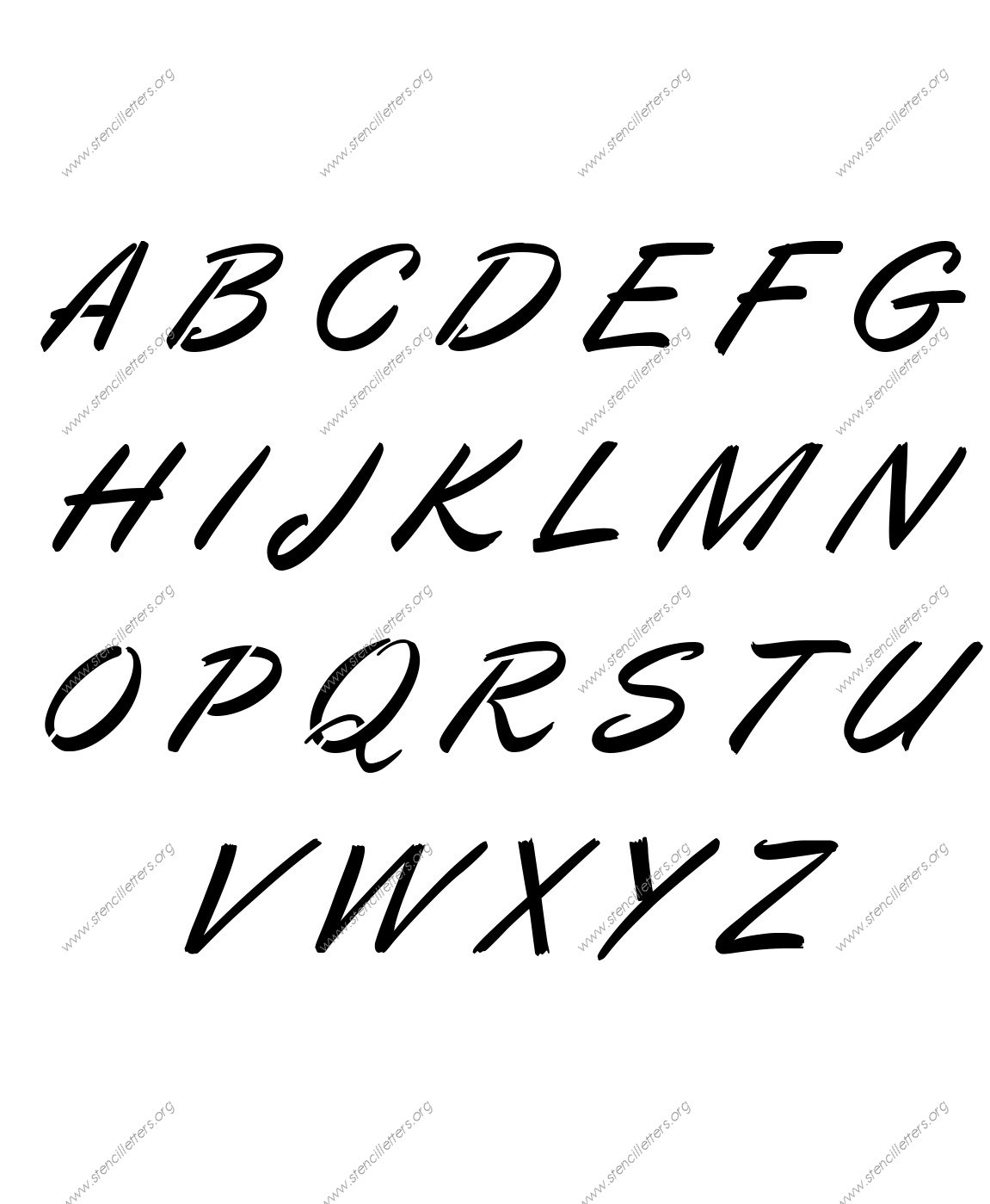 Calligraphic Italic Number Stencils 0 To 9