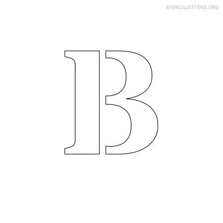 Stencil Letters B Printable Free B Stencils Stencil Letters Org