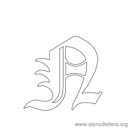free gothic printable letters