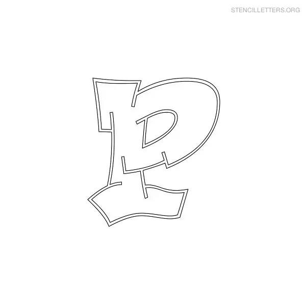 Graffiti Letters In P