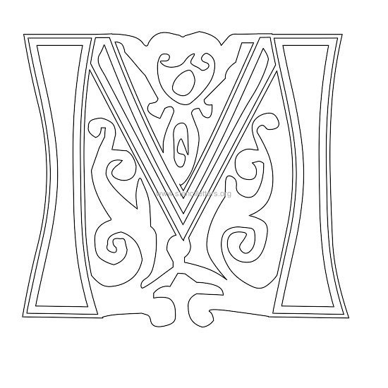 Floral Victorian Wall Letter Stencils