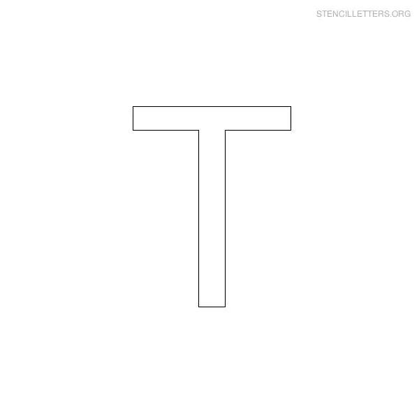 photograph regarding Letter T Printable named Stencil Letters T Printable Totally free T Stencils Stencil - Vudi