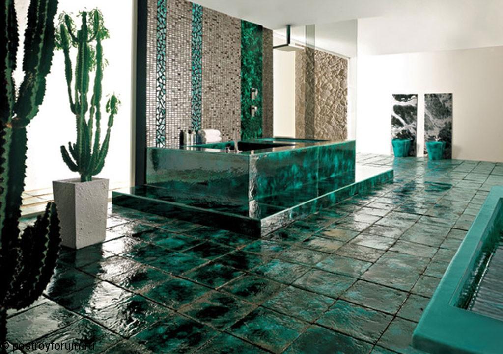 дизайн кафеля в ванной комнате