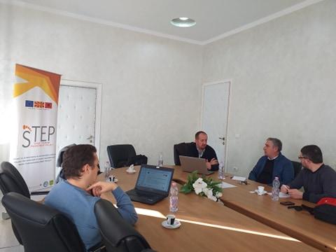 Работна средба на дел од тимот на СТЕП во Елбасан