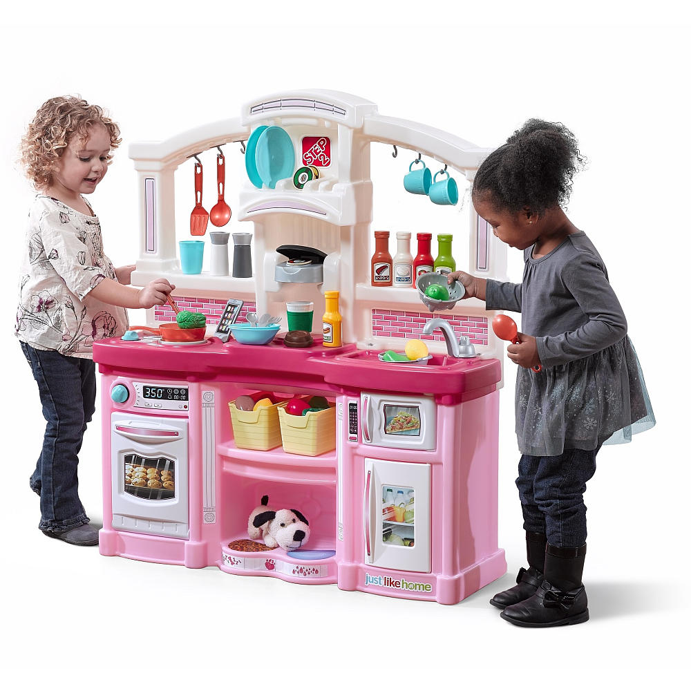 step 2 play kitchens kitchen plaques buy just like home fun with friends pink toys for kids this step2