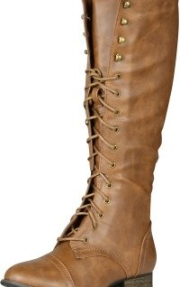 089f6051b39 Breckelle s Outlaw Women s Lace Up Knee High Riding Boot Review