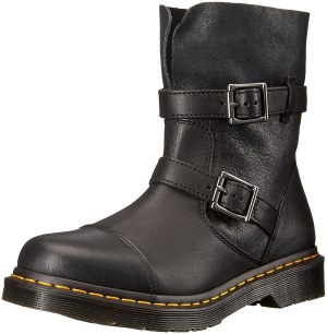 Dr. Martens Women's Kristy in Black Virginia Leather Fashion Boot
