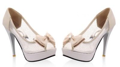 beige open toe pumps