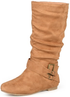 Journee Collection Womens Wide-Calf Buckle Slouch Mid-Calf Boot Review