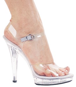 heeled sandal with open toe and platform