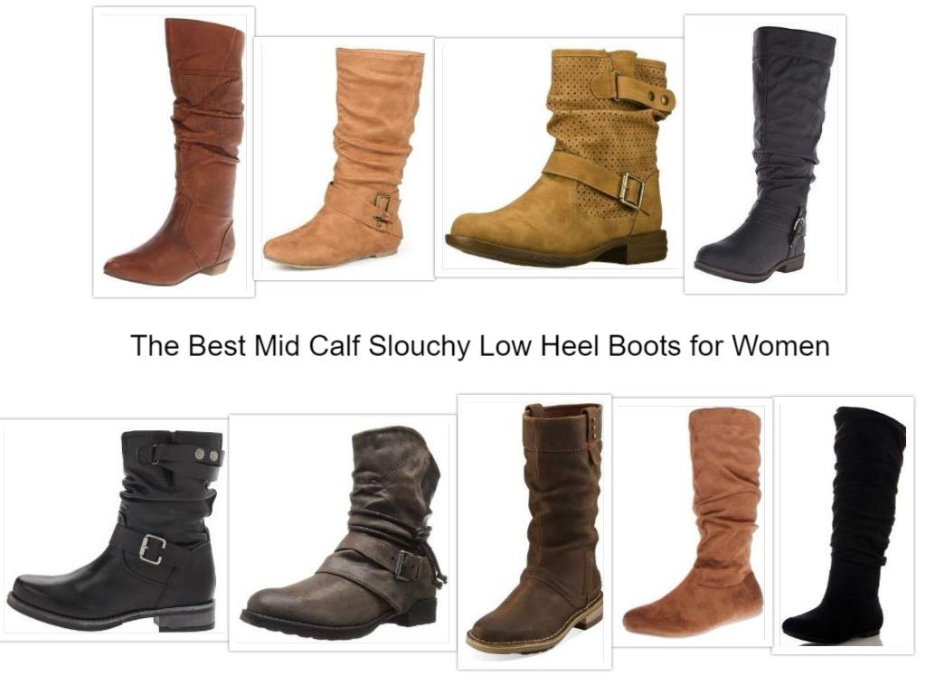 f2fb930e3f8b The Best Mid Calf Slouchy Low Heel Boots for Women 2018 [Compare Models]