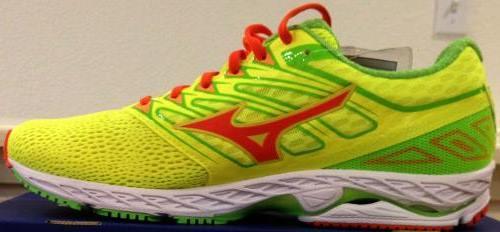 Mizuno Running Wave Shadow Shoes Green-Orange