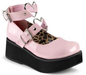 pink wedge shoe