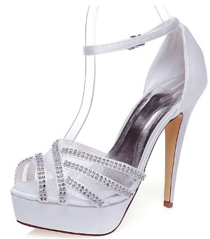 Peep Toe Stiletto Heel With Beads
