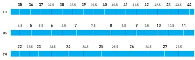 Shimano Women's Shoe Size Chart