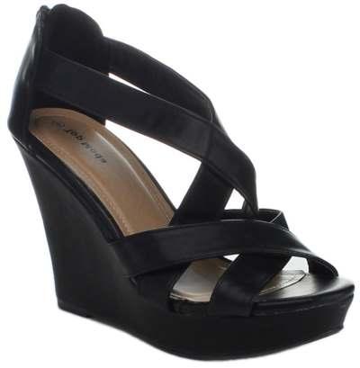 Top Moda Ella-18 Women's Gladiator Wedge Heel Sandals