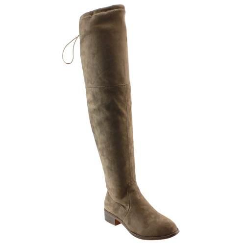 eston FD97 Women's Stretchy Over The Knee Block Heel Dress Boot