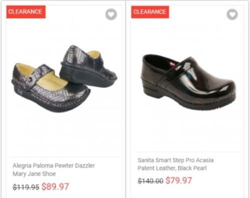 719a3d68135 If you can't afford a new pair of nursing shoes, Tafford has the special  clearance section, which offers amazing discounts over 25% off the regular  price ...