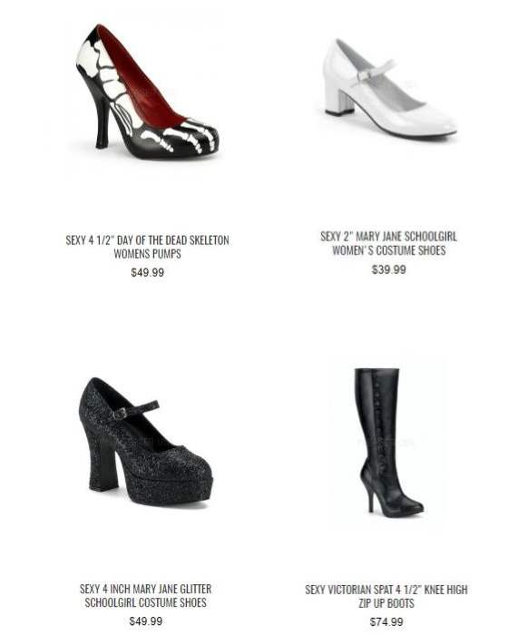 pairs of costume shoes