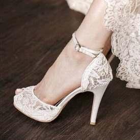 Bridal Ankle Strap Pumps