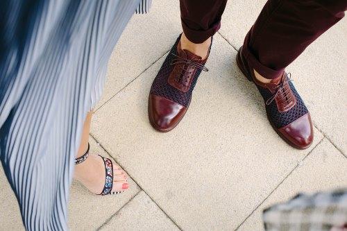 woman's man's shoes