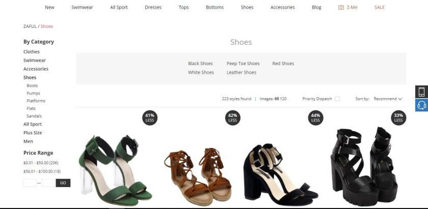 Zaful Shoe Assortment