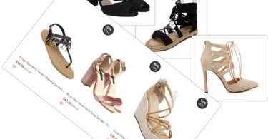 Zaful shoe collage