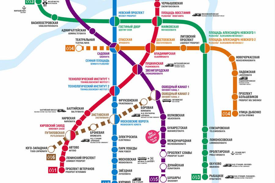 Новая схема метро