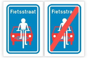 2013.02.10 - Новые бельгийские знаки ограничивают зону приоритета велосипедистов