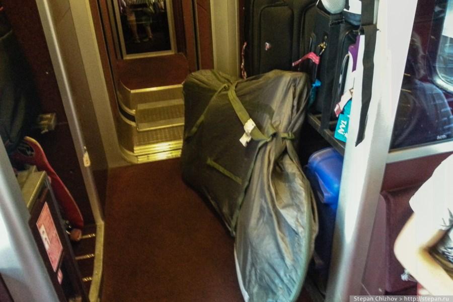 11. Путешествие с велосипедом в европейском поезде Thalys. Не совсем по правилам =)